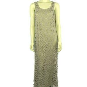 Chicos Crochet Tank Dress